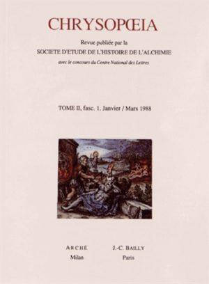 Chrysopoeia Tome 2/1988 Fascicules 1 à 4 - 4 volumes