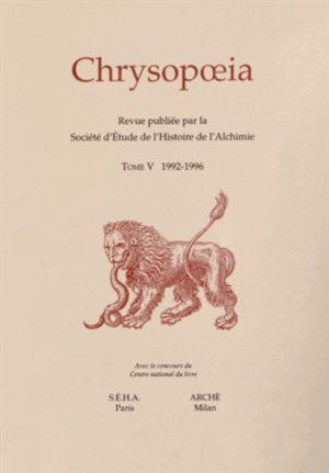 Chrysopoeia Tome 5/1992-1996