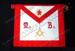 R.E.A.A. - Maitre - Tablier - M.B., Équerre/compas, étoile, G