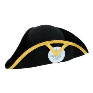 Chapeau tricorne noir souple