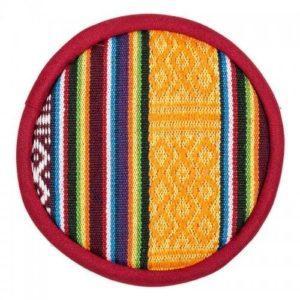 Coussin pour bol chantant tibétain design tribal (petit)