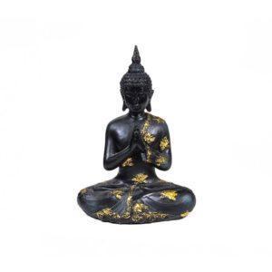 Bouddha priant style ancien noir et or