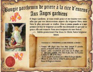 Bougie parchemin à la cire d'encens Anges gardiens