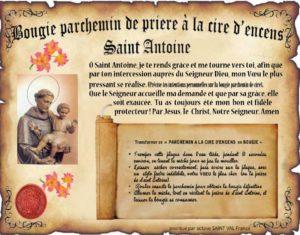 Bougie parchemin à la cire d'encens Saint Antoine