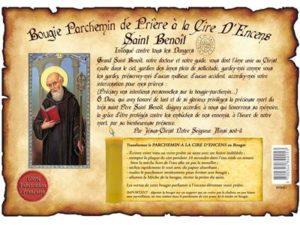 Bougie parchemin à la cire d'encens Saint Benoit