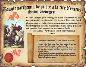 Bougie parchemin à la cire d'encens Saint Georges