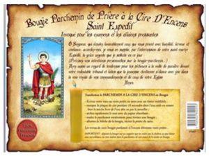 Bougie parchemin de cire à l'encens Saint Expedit