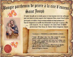 Bougie parchemin de cire à l'encens Saint Joseph
