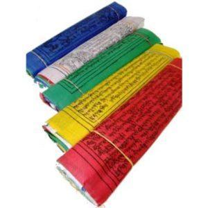 Drapeaux de prière tibétains fil de 10
