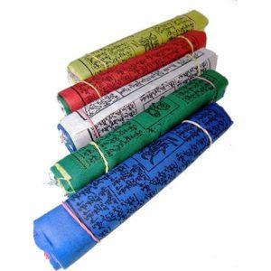 Drapeaux de prière tibétains fil de 25