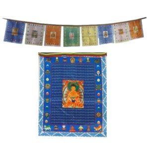 Drapeaux de prières bouddhas fil de 10