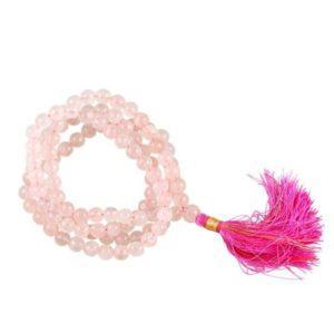 Mala Quartz rose 108 perles