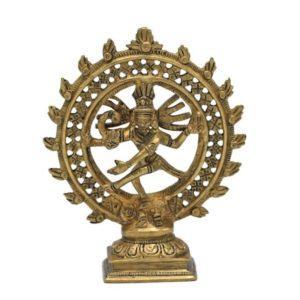 Shiva nitaraj en laiton double couleur or