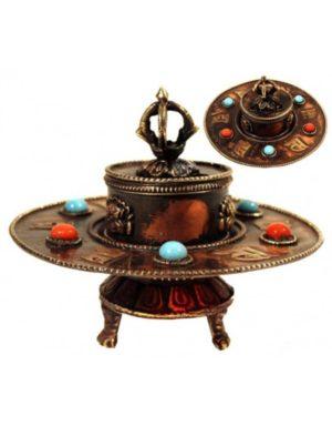 Brûle-encens tibétain en métal