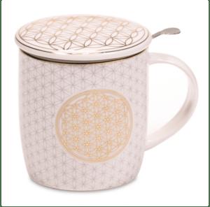 Coffret infuseur à thé Mug Fleur de Vie
