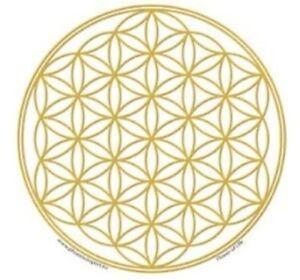 Stickers Fleur de vie doré