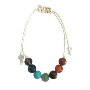 Bracelet Lacet 7 Chakras