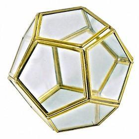 Dodécaèdre en métal et verre