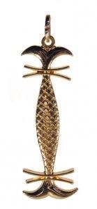 Médaile de l'abbé Julio Mesure du christ en plaqué or