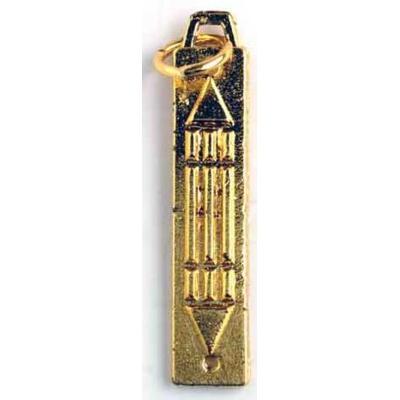Pendentif Barre atlante plaqué or