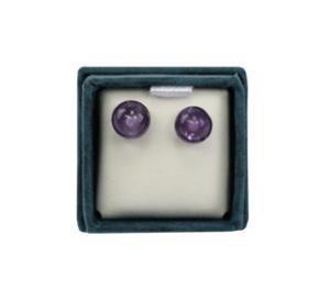 Boucles d'oreilles perles d'améthyste 6 mm