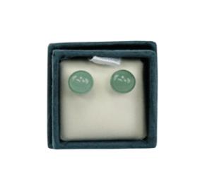 Boucles d'oreilles perles d'aventurine 6 mm
