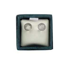 Boucles d'oreilles perles de cristal de roche 6 mm