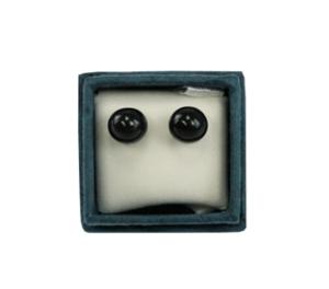 Boucles d'oreilles perles d'onyx 6 mm