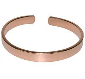 Bracelet en cuivre Jonc plat grand modèle