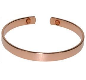 Bracelet en cuivre avec aimants Jonc plat petit modèle