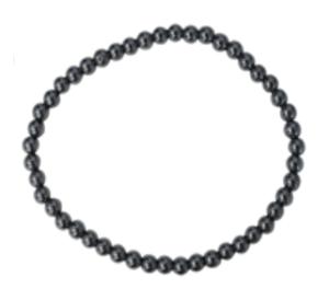 Bracelet en hématite 4 mm