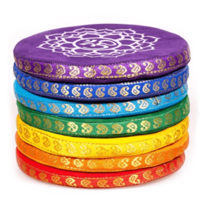 Coussins pour bols chantants set 7 chakras (grand)