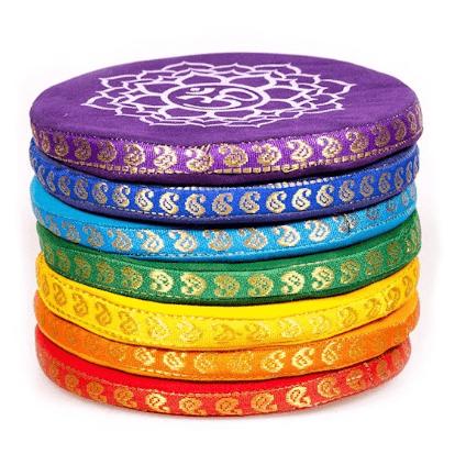 Coussins pour bols chantants set 7 chakras (grand)