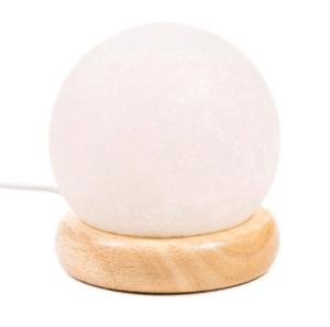 Mini lampe en sel blanche sphère avec USB et LED