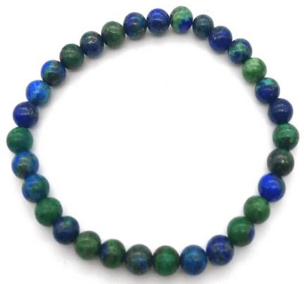 Bracelet en azurite-malachite 6 mm