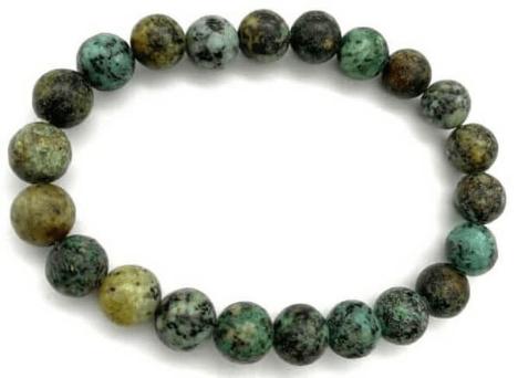 Bracelet en turquoise d'Afrique 8 mm