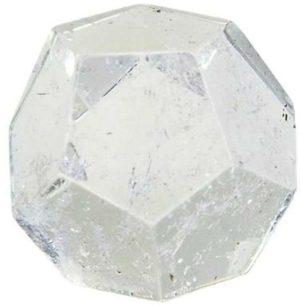 Dodécaèdre en Cristal de roche 2 cm