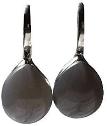 Boucles d'oreilles en Agate grise et Argent 925 Bombées