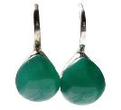 Boucles d'oreilles en Onyx vert et Argent 925 Bombées