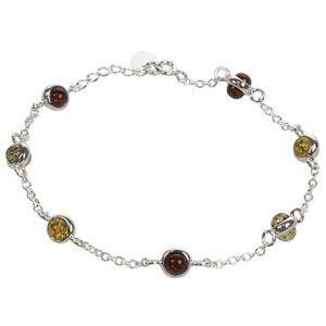 Bracelet Boules d'Ambre Multicolore