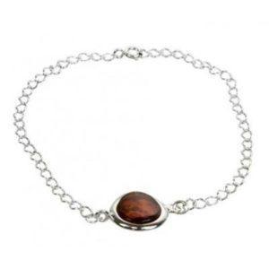 Bracelet Coussin en Ambre brun
