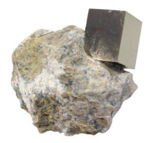 Cube de Pyrite sur Gangue petit modèle